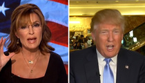 Donald Trump and Sarah Palin -- Mutual Admiration Society