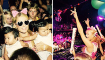 Paris Hilton -- Glow Sticks & Diapers ... Let's Rave, Kids!! (PHOTOS)