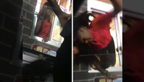 Fast Food Fight -- Girl Pulled From Drive-Thru Window By The Hair!!! (VIDEO)