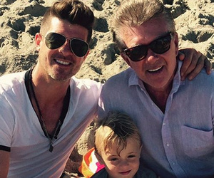 Robin Thicke Shares Cute Father-Son Photo with Dad Alan Thicke & Son Julian