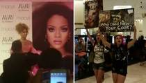 Rihanna -- Anti-Fur Protesters Manhandled and Booted