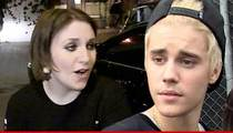 Lena Dunham -- Nodding Head No, Really Means Yes Over Justin Bieber Song