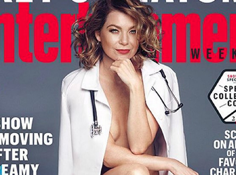 Ellen Pompeo Poses Nearly-Nude For EW, Talks Sexest Reactions To McDreamy's Death!