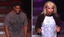 Herschel Walker -- Dude Looks Like A Lady ... Goes Gaga At Vegas Show