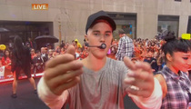 Justin Bieber --  Dresses Down 'Today' Director ... They Can't See Me Dance!!!