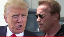 Donald Trump -- Face-to-Face with Replacement Arnold Schwarzenegger at Debate