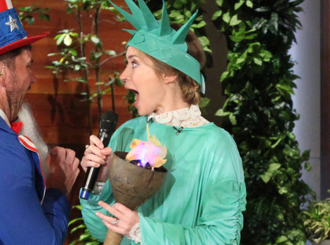 Ellen DeGeneres Scares the Hell Out of Emily Blunt -- And Her Reaction is Priceless!