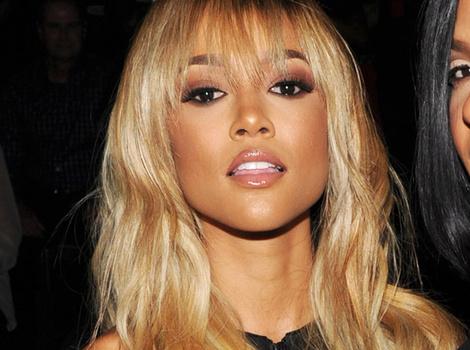 Karrueche Tran Copies Rihanna's Blonde Hair During New York Fashion Week