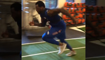 Jason Pierre-Paul -- No Finger, No Problem ... Back in the Gym!! (VIDEO)