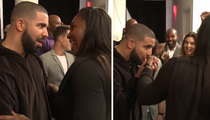 Drake & Serena Williams - Full On PDA with a Kiss for Cameras  (VIDEO)