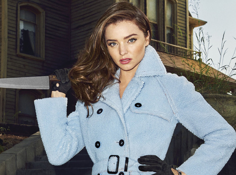 Miranda Kerr Is One Sexy Psycho -- See Her Horror-Themed Photo Shoot!