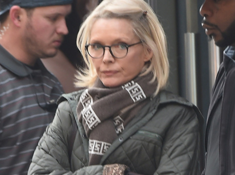 "Michelle Pfeiffer Resurfaces on ""Wizard of Lies"" Set In Full Ruth Madoff Costume"