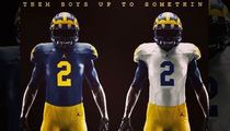 Michigan Wolverines -- Puts Michael Jordan ... On Football Jerseys!