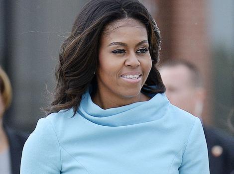 Michelle, Malia & Sasha Obama Look Picture Perfect For Pope's Visit