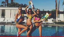 Victoria's Secret Models Get Wet ... With Water Guns!!! (VIDEO)