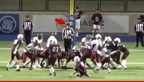 High School Football Kicker Nails Extra Point ... Off the Ref's Head! (VIDEO)