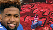 Odell Beckham Jr. -- Scores Baller Spot to Lay Out For Home Games (PHOTO)
