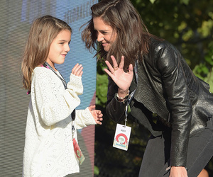 Suri Cruise Joins Katie Holmes on Stage at Global Citizen Fest