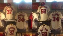 Jonathan Papelbon -- Jerseys Pulled from Stadium Shop ... After Bryce Harper Attack