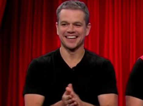 See Matt Damon Hilariously Act Out His Entire Movie Career with James Corden In 8 Minutes