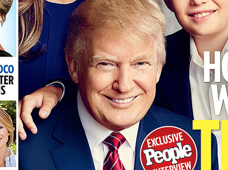 Donald Trump's Son Barron, 9, Makes Magazine Debut -- He's So Big!