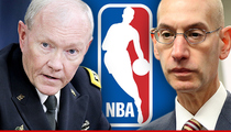 NBA Commish Adam Silver -- Breaks Out The Big Guns ... Hires 4-Star U.S. General
