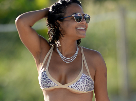 Christina Milian Shows Off Smokin' Hot Bikini Bod -- Look At That Booty!