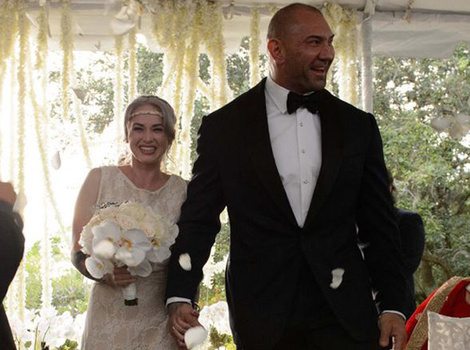 Dave Bautista Marries Sexy Pole Dancer Sarah Jade -- See Wedding Photo!