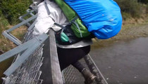 Hikers Narrowly Escape Death After Foot Bridge Collapses