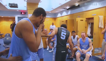 North Carolina Basketball -- Team Freaks Out Over New Jumpman Jerseys (Video)
