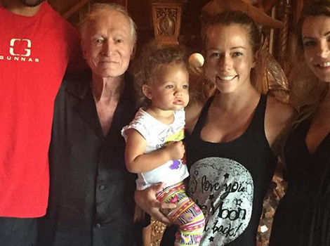 Kendra Wilkinson Brings Hank and the Kids to the Playboy Mansion