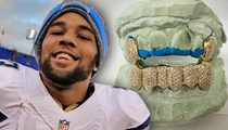 SD Chargers WR -- Mouth Full of Diamonds ... 300 Stones In Custom Grill