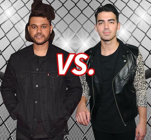 The Weeknd (25) vs. Joe Jonas (26) for Hottest Hadid Boy Toy!