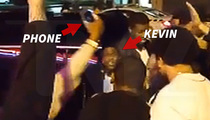 Kevin Hart and Crew in Strip Club Melee ... Phone breaks, Waitress Stiffed (VIDEO)
