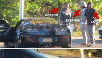 Marshawn Lynch On the Scene After Drag Race ... Teammate Fred Jackson Crashes (UPDATE/PHOTOS)