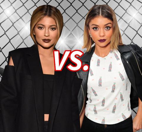 Dark Lip Damsels! Kylie Jenner (18) vs. Sarah Hyland (24)