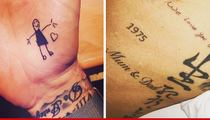 David Beckham -- My Kids Don't Write on Walls ... They Write on Me! (PHOTOS)