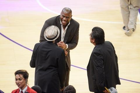 Arsenio Hall, Magic Johnson and George Lopez