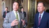 Arnold Schwarzenegger -- I Won't Say if My Son Should Run ... But John Kasich Will (VIDEO)