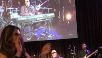 Maria Shriver -- WINS 60th Birthday Bash Contest ... Serenaded by Stevie Wonder