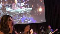 Maria Shriver -- WINS 60th Birthday Bash Contest ... Serenaded by Stevie Wonder