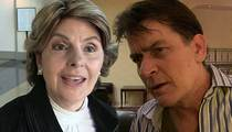 Charlie Sheen -- Gloria Allred Now in the Game ... Repping Women