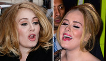 Adele's Resting Pitch Face -- Say Hello to Her Silent Singing Pics