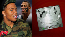 Ray Rice -- Listen Up, Greg Hardy ... Here's What I Can Teach You (AUDIO)