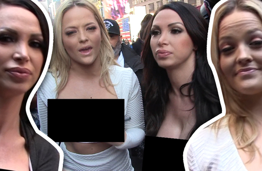 Two pornstars went topless in new york city and for a for Tmz tour new york city