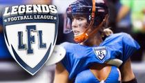 Legends Football League -- Star WR Upset She Can't Date Opposing Player