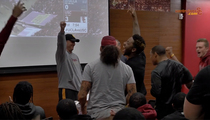 USC's Clay Helton -- Players Go Crazy for Coach ... During Official Announcement
