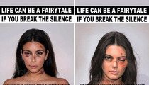 Kim Kardashian & Kendall Jenner -- Anti-Violence Campaign Stole Our Photos ... But We Support the Cause (PHOTOS)