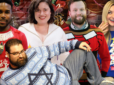 TMZ Staff Pics -- Ugly Holiday Sweater Edition