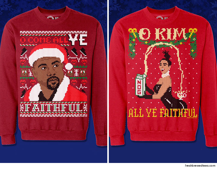 Kim Kardashian, Kanye West -- When It Comes To Ugly Xmas Sweaters ...